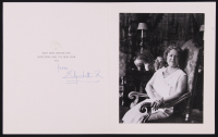 "Queen Elizabeth ""The Queen Mother"" Signed ""1972 Christmas Holiday Card"" (Beckett LOA) at PristineAuction.com"