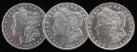 Lot of (3) Morgan Silver Dollars with 1889, 1896, & 1921