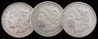 Lot of (3) Morgan Silver Dollars with 1921-D, 1921-S, & 1921