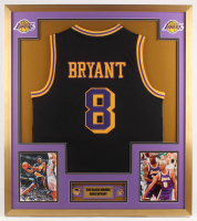 Kobe Bryant Los Angeles Lakers 32x36 Custom Framed Jersey with (2) Pins