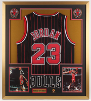 Michael Jordan Chicago Bulls 32x36 Custom Framed Jersey Display