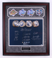 World Series Champions New York Yankees LE 27.5x31.5 Custom Framed Photo Signed by (11) with Joe Torre, Derek Jeter, Mariano Rivera, Andy Pettitte, David Cone (Steiner COA & MLB Hologram) at PristineAuction.com