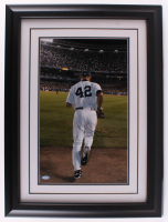 "Mariano Rivera Signed LE New York Yankees 21x25 Custom Framed Photo Inscribed ""Enter Sandman"" (Steiner COA)"