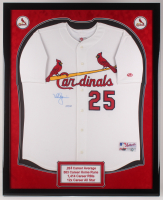 Mark McGwire Signed LE 34.5x42.5 Custom Framed Jersey Display (Steiner COA) at PristineAuction.com