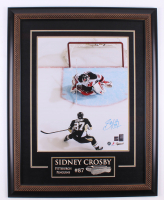 Sidney Crosby Signed Pittsburgh Penguins 26.5x33.5 Custom Framed Photo (Frameworth COA) at PristineAuction.com