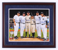 New York Yankees Perfect Game Battery Mates 22.5x26.5 Custom Framed Photo Signed By (6) with Joe Girardi, David Cone, Don Larsen, Yogi Berra, David Wells with (3) PG Inscriptions (Steiner COA & MLB Hologram)