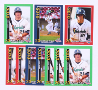 Lot of (10) Mike Trout 2010 Cedar Rapids Kernels Rising Alumni Team Issue Baseball Cards with (3) #1, (3) #2 & (4) #3