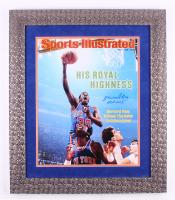 "Bernard King Signed New York Knicks 24.5x28.5 Custom Framed Photo Display Inscribed ""HOF 2013"" (Steiner COA)"