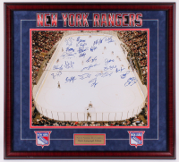 New York Rangers 32x35 Custom Framed Photo Display Team-Signed by (26) with Mark Messier, Glenn Anderson, Sergei Zubov, Joe Kocur (Steiner COA) at PristineAuction.com