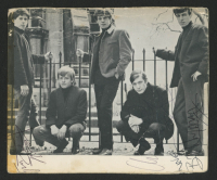 Rolling Stones Postcard Signed by (4) with Keith Richard, Charlie Watts, Bill Wyman & Brian Jones (Real LOA)