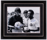 Pele & Joe Namath Signed 23.5x27.5 Custom Framed Photo Display (PSA Hologram)