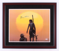 """Daisy Ridley Signed """"Star Wars: The Force Awakens"""" 22x26 Custom Framed Photo Display (PSA COA & Steiner COA) at PristineAuction.com"""
