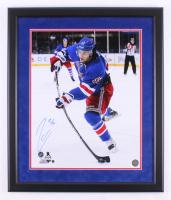 Mats Zuccarello Signed New York Rangers 22x26 Custom Framed Photo Display (Steiner Hologram)