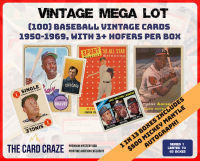 "The Card Craze ""Baseball Vintage Mega Lot"" Mystery Box"
