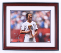 Carli Lloyd Signed Team USA 23x27 Custom Framed Photo Display (PSA COA) at PristineAuction.com