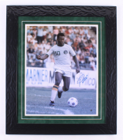 "Pele Signed ""New York Cosmos"" 24.5x28 Custom Framed Photo Display (Steiner COA) at PristineAuction.com"