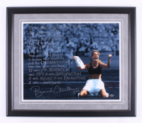 Brandi Chastain Signed Team USA 22.5x26 Custom Framed Photo Display with Extensive Inscription (Steiner COA)