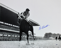 Ron Turcotte Signed 1973 Belmont Stakes 16x20 Photo (Beckett COA)