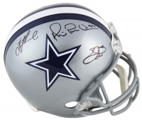 "Troy Aikman, Emmitt Smith & Michael ""Playmaker"" Irvin Signed Cowboys Full-Size Helmet (Beckett COA) at PristineAuction.com"