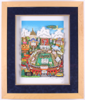 "Charles Fazzino Signed LE ""1988 Notre Dame Fighting Irish National Champions"" 22x27 Custom Framed Commemorative Pop Art Display (PA LOA) at PristineAuction.com"