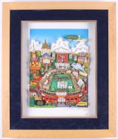"Charles Fazzino Signed LE ""1988 Notre Dame Fighting Irish National Champions"" 22x27 Custom Framed Commemorative Pop Art Display (PA LOA)"