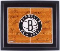 Brooklyn Nets 22.5x26.5 Custom Framed Photo Team-Signed by (12) with Tyshawn Taylor, Andrei Kirilenko, Andray Blatche, Paul Pierce, Jorge Gutierrez (Steiner COA)