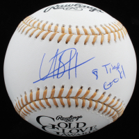 "Usain Bolt Signed Gold Glove Award Baseball Inscribed ""8 Time Gold"" (JSA COA)"