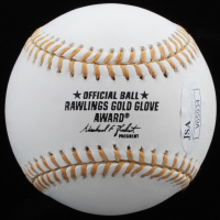 "Usain Bolt Signed Gold Glove Award Baseball Inscribed ""8 Time Gold"" (JSA COA) at PristineAuction.com"