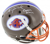 """Henry Winkler Signed """"The Waterboy"""" Mud Dogs Full-Size Helmet Inscribed """"Coach Klein"""" (Beckett COA)"""