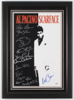 """Scarface"" 16.5x22.5 Custom Framed Movie Poster Display Cast-Signed by (11) with Al Pacino, Steven Bauer, Miriam Colon, Robert Loggia, Caesar Cordova (PSA LOA)"