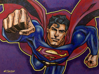 "Bill Lopa Signed ""Superman"" Limited Edition 30x40 Hand-Embellished Giclee on Canvas (PA LOA)"
