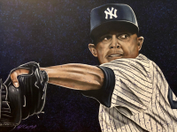 "Bill Lopa Signed ""Mariano Rivera"" Limited Edition 30x40 Hand-Embellished Giclee on Canvas (PA LOA) at PristineAuction.com"