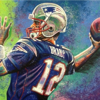 "Bill Lopa Signed ""Tom Brady"" Limited Edition 30x40 Hand-Embellished Giclee on Canvas (PA LOA)"