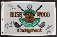 "Chevy Chase, Cindy Morgan, & Michael O'Keefe Signed ""Caddyshack"" Bushwood Country Club Pin Flag Inscribed ""Noonan"" & ""Lacey"" (Beckett COA & Chase Hologram) at PristineAuction.com"