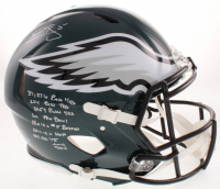 Donovan McNabb Signed Philadelphia Eagles Full-Size Authentic On-Field Speed Helmet with Multiple Inscriptions (PSA COA)