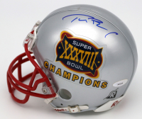 Tom Brady Signed New England Patriots Super Bowl XXXVIII Champions Mini Helmet (TriStar Hologram)