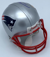 Tom Brady Signed New England Patriots Super Bowl XXXVIII Champions Mini Helmet (TriStar Hologram) at PristineAuction.com