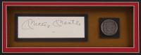 Mickey Mantle Signed New York Yankees 32x36 Custom Framed Cut Display With Vintage Pewter Hall of Fame Emblem (JSA ALOA) at PristineAuction.com