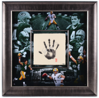 Brett Favre Signed Limited Edition Green Bay Packers 36x36 Custom Framed Tegata Display (UDA COA) at PristineAuction.com
