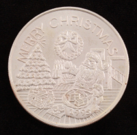 "1 Troy Ounce .999 Fine Silver 1991 ""Christmas"" Round at PristineAuction.com"