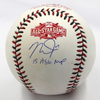 """Mike Trout Signed 2015 All-Star Game Baseball Inscribed """"15 ASG MVP"""" (MLB Hologram) at PristineAuction.com"""