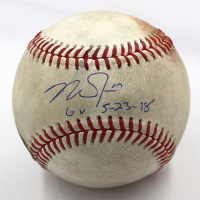 "Mike Trout Signed Game-Used OML Baseball Inscribed ""GU 5-23-18"" (MLB Hologram) at PristineAuction.com"