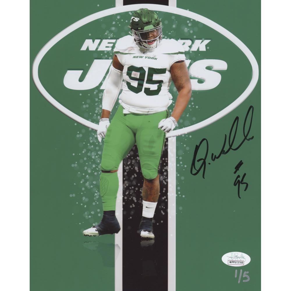 Autographed//Signed Quinnen Williams New York Green Football Jersey JSA COA