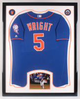 David Wright Signed New York Mets 34.5x42.5 Custom Framed Jersey Display (Steiner COA) at PristineAuction.com