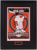 "Chris Speakman Signed San Francisco Giants LE 22x29 Custom Framed Poster Display Inscribed ""2010"" (PA LOA) at PristineAuction.com"