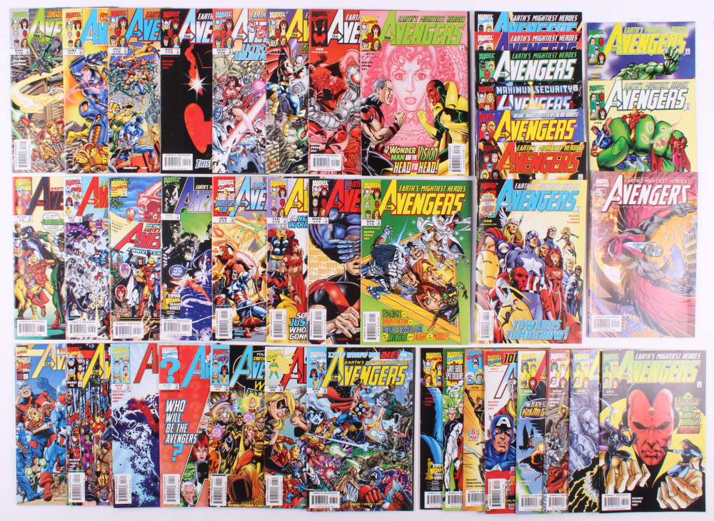 """Lot of (41) 1998-2003 """"Avengers"""" #1-#40, #64 Marvel Comic Books at PristineAuction.com"""