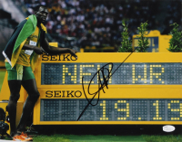 "Usain Bolt Signed Team Jamaica ""200M World Recod"" 11x14 Photo (JSA COA)"