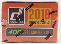 2018 Panini Donruss Football Factory Unopened Complete Set (Orange) of (400) Cards at PristineAuction.com