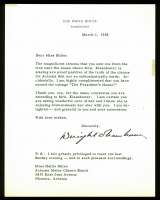 Dwight D. Eisenhower Signed Letter (Beckett LOA)