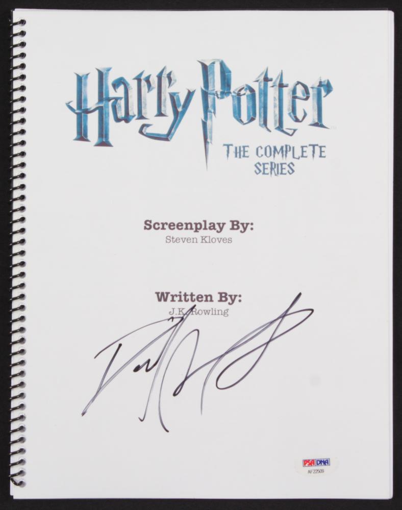 "Daniel Radcliffe Signed ""Harry Potter: The Complete Series"" Movie Script (PSA Hologram) at PristineAuction.com"